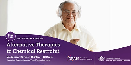 Alternative Therapies to Chemical Restraint tickets