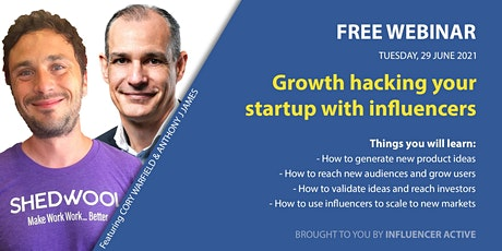 Growth Hacking Your Startup with Influencers tickets
