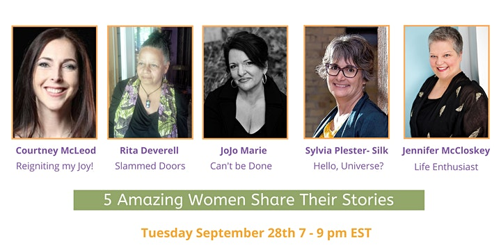 Spoken Lives Online - 5 Women Share their Stories: Tuesday, September 28th image