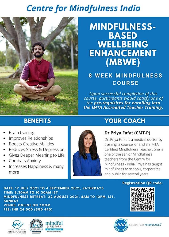 Mindfulness-Based Wellbeing Enhancement (MBWE) - India  Jul 2021 image