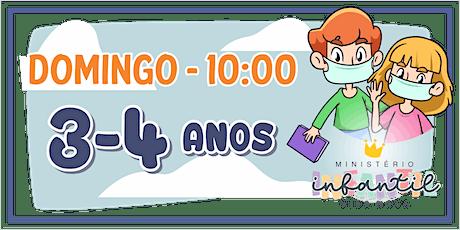 Ministério Infantil - 3-4 ANOS  -10H ingressos