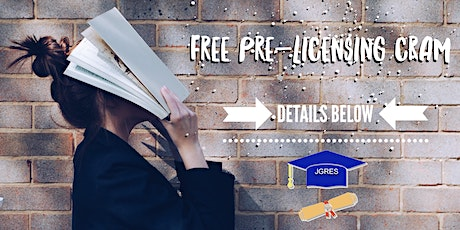 Free Pre-Licensing Cram Class - Real Estate tickets