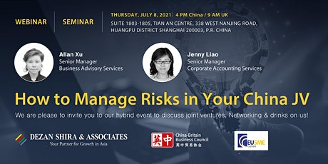 How To Manage Risks in Your China Joint Venture. tickets