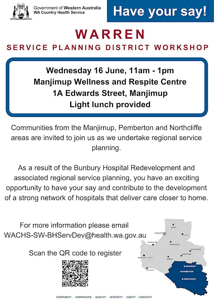 Warren Service Planning District Workshop image