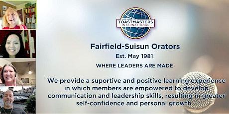 Toastmasters - Fairfield Suisun Orators Toastmasters Club billets