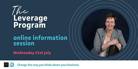 The Leverage Program, Online Information Sessions - July tickets