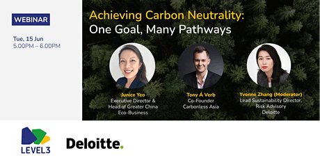 Achieving Carbon Neutrality: One Goal, Many Pathways tickets