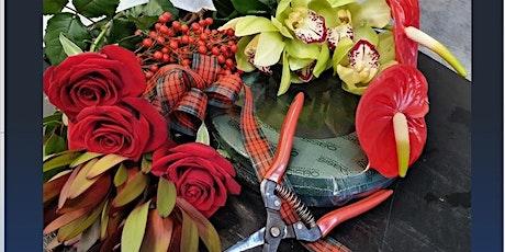 Mid Winter Christmas Flower Wreath Arrangement  Workshop & Morning Tea tickets