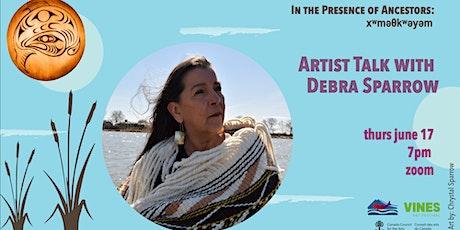 Artist Talk with Debra Sparrow (θəliχʷəlʷət) tickets