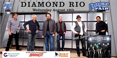 Diamond Rio W/ Special Guests Brushville At The 2021 Fairbury Fair tickets