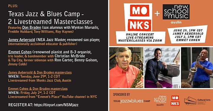 New School of Music and Texas Jazz & Blues Camp Summer Events image