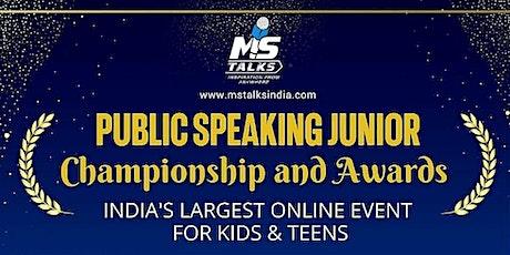 Public Speaking Junior Championship & Awards 2021 tickets