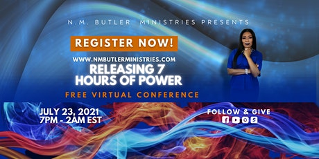 """Release 7 Hours of Power """" Unleashing Your God Given Authority"""" tickets"""