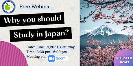FREE WEBINAR: WHY YOU SHOULD STUDY IN JAPAN? tickets