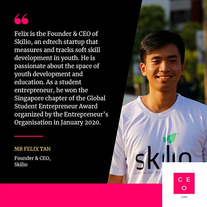 CEO Class - Mr. Felix Tan (Founder, Skilio) image