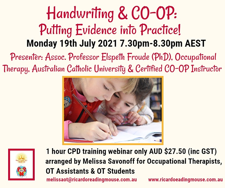 Handwriting & CO-OP: Evidence to Practice by Assoc. Prof. Elspeth Froude image