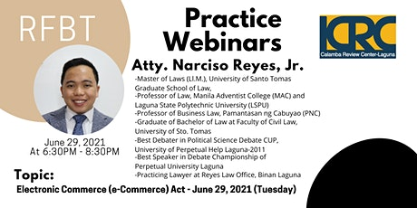 LCRC TAX Practice Webinars: Electronic Commerce (e-Commerce) Act tickets