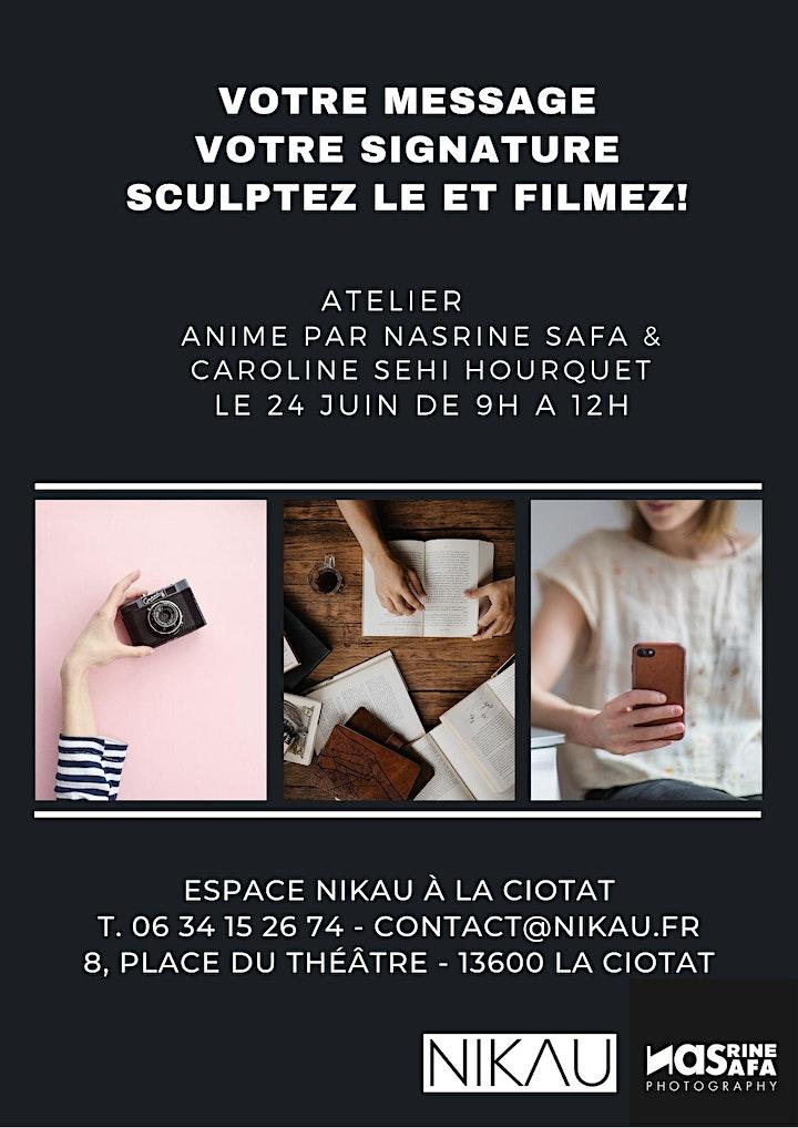 Image pour Votre message, Votre signature Sculptez-le et filmez ! 24/06/2021