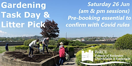 Gardening and Litterpick Task Day on Rochester Esplanade Park (pm session) tickets