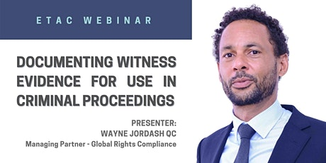 Documenting Witness Evidence for use in Criminal Proceedings tickets
