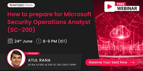 Live Free Webinar-How to prepare for Microsoft Security Operations Analyst tickets