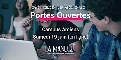 Portes Ouvertes en ligne - Bachelor Numérique à LA MANU Amiens billets