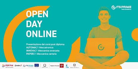 ITS Prime-Tech Academy: Open day online biglietti