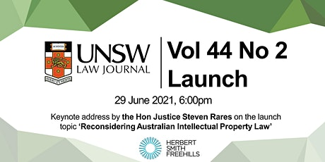 UNSW Law Journal 44(2) Launch tickets