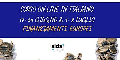Finanziamenti europei: nuovi programmi e opportunità - Workshop online biglietti
