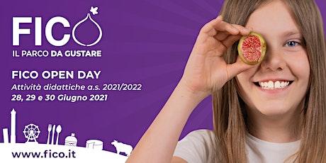 FICO OPEN DAY - Attività didattiche a.s..2021-2022: 28, 29 e 30 Giugno 2021 biglietti