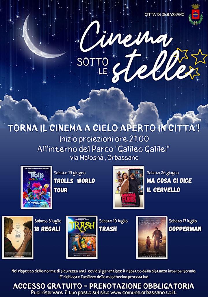 """Immagine CINEMA sotto le STELLE: il 10 luglio """"TRASH"""""""