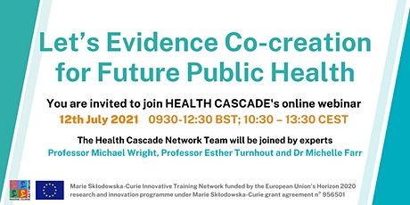 Let's evidence co-creation for future public health tickets