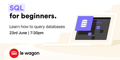 [ONLINE WORKSHOP] Learn how to query databases with SQL  biljetter