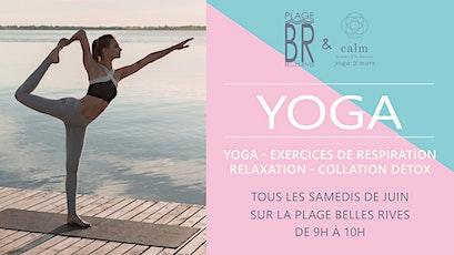 Cours de Yoga à La Plage Belles Rives tickets
