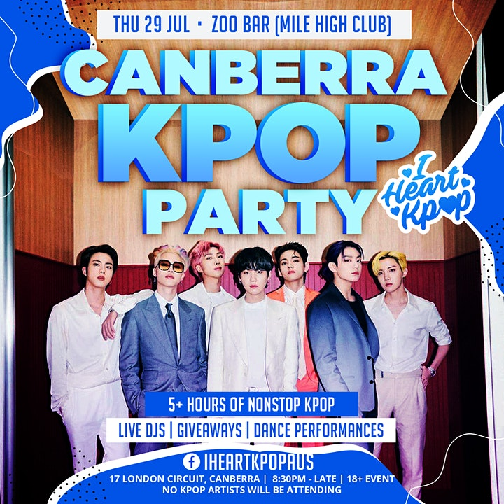 CANBERRA KPOP PARTY | THE COMEBACK | THU 20 JAN image