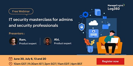 IT security masterclass for admins and security professionals tickets