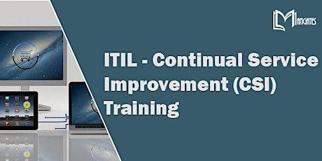 ITIL - Continual Service Improvement Virtual Training in Puebla tickets