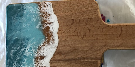 Create and Sip - Resin Cheese Board tickets