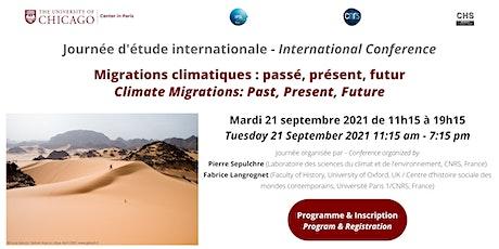 Migrations climatiques: passé, présent, futur billets