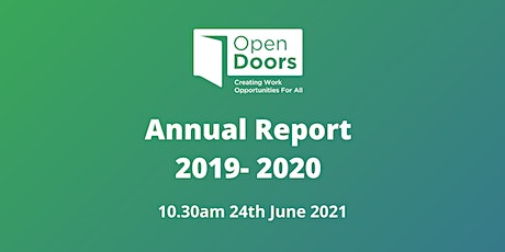 The Open Doors Initiative  first Annual Report (2019-2020) launch tickets