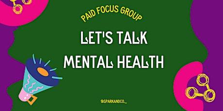 Men's Mental Health Focus Group  (Wales) tickets