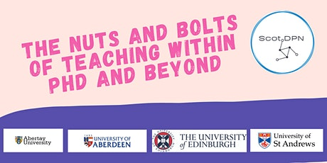 Nuts and Bolts of Teaching; within PhD & beyond tickets