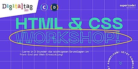 Digitaltag Spezial: HTML & CSS Workshop –für Anfänger biglietti