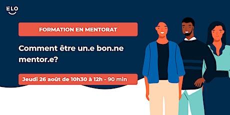 Formation en mentorat: Comment être un.e bon.ne mentor.e ? billets