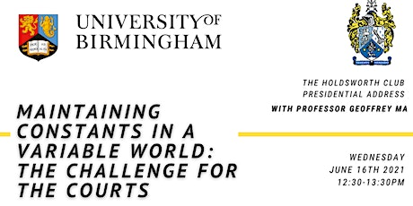Maintaining Constants in a Variable World: The Challenge for the Courts tickets