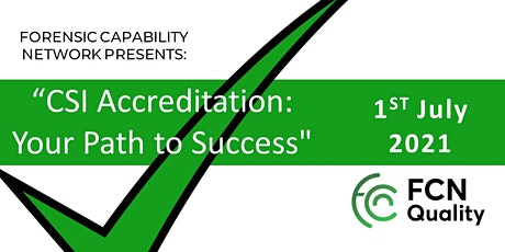 CSI Accreditation: Your Path to Success tickets