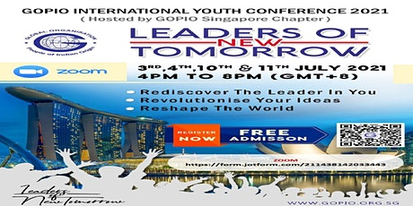GOPIO INTERNATIONAL YOUTH CONFERENCE 2021 tickets