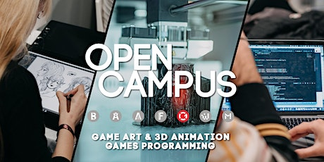 Virtual Open Campus: #Game Art & 3D Animation #Games Programming Tickets