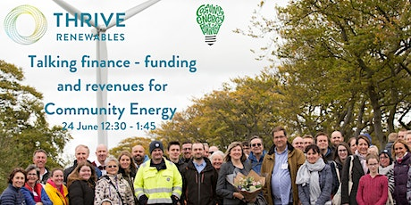 Talking finance - funding and revenues for Community Energy projects tickets