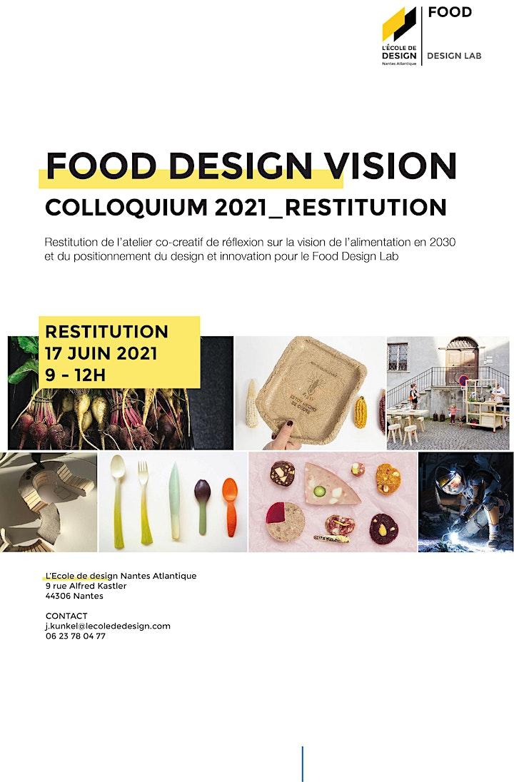 Image pour FUTURE FOOD VISION - COLLOQUIUM